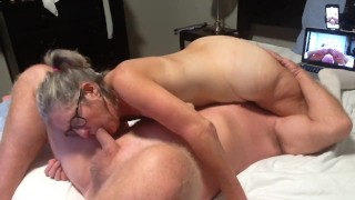 Hot Milf Sucks On Hubby's Cock 69 Warming Up For A Good Fucking