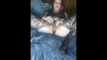 Fucking my pussy with my ass plugged