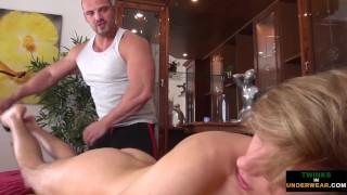 Twink toyed during euro massage
