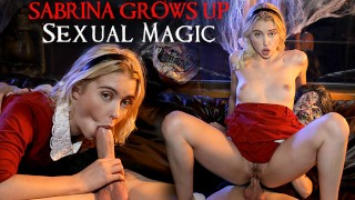 Screen Capture of Video Titled: Sabrina The Teenage Witch's Magical Halloween Hook Up