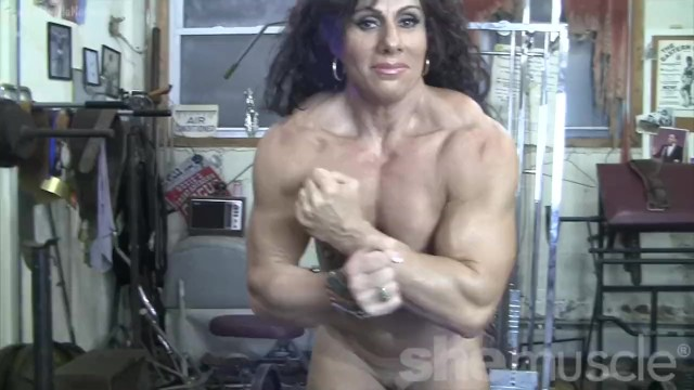 Mature female bodybuilders sexy nude Muscular naked female bodybuilder shows off completely nude