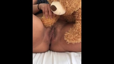 DADDY!!! TEDDY IS RUBBING MY PUSSY