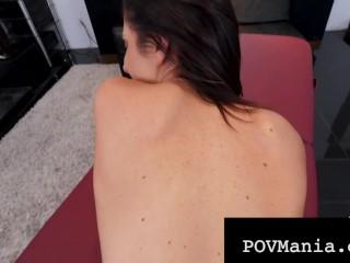 POVMania – Silvia Saige Face & Pussy Fucked By Miles Long!