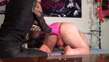 Beth Kinky - Sexy domina ass stretching for slave with toys pt1 HD