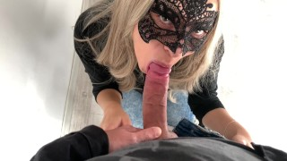 Blonde girl getting here mouth fucked!! Facial reward!! 4k ultra HD