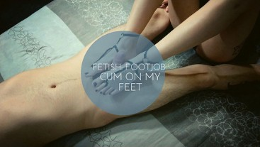 Fetish: Footjob - Cum on my feet