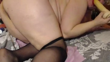 Anal dildo fuck and ATM during my private show
