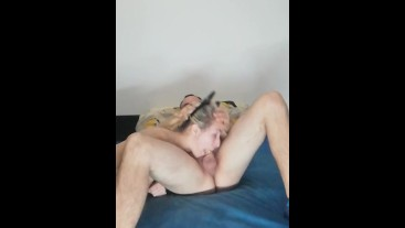 Brutal face fucking and deepthroat whit cumshot in mouth