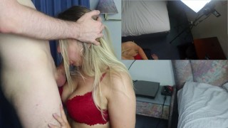 Cheating Amateur Teen EXTREME HARDCORE Facefucked in a Hotel - 2 Cam View