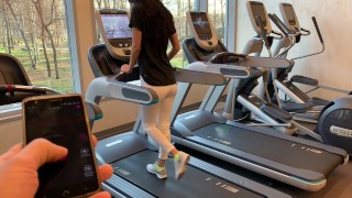 Screen Capture of Video Titled: public Masturbation with lovense (LUSH) PART 3. during fitness in the gym
