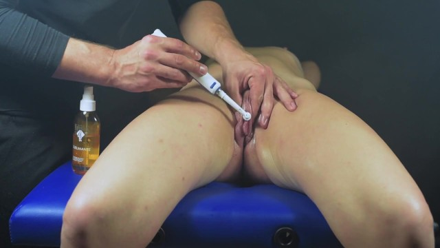 Picture post lesbian Multi orgasms clit massage-post orgasm torture