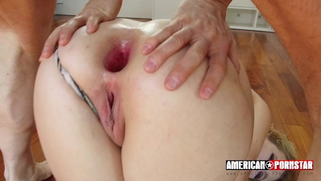 Young Blonde Whore Anal Big White Cock!
