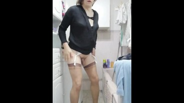 Patty crossdresser compilation of fun moment with dildos or wanking