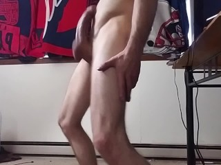 Young stud and his girthy cock