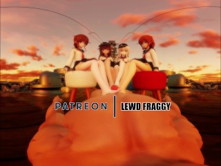 KANTAI COLLECTION – DESTROYERS QUARTET FOOTJOB [5K UNCENSORED VR HENTAI]