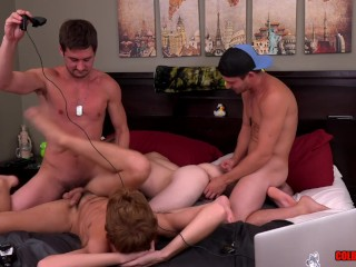 Colby chambers and mickey knox 4way fuck with...