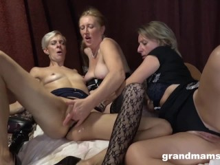 Three oily grannies worn out pussies...