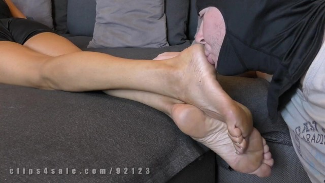Dirty wife thumbs Saed dominat milf, dirty shoes and feet worship