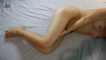 Teen Masturbates With Long Crossed Legs, Real Female Orgasm ~DirtyFamily~