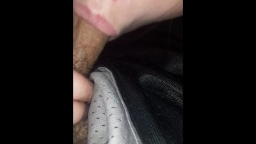 Up close cock sucking