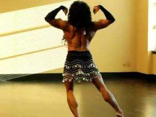 Seductive sexy arabic style dance...