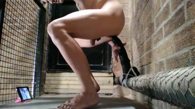 Huge Anal Dildo Solo
