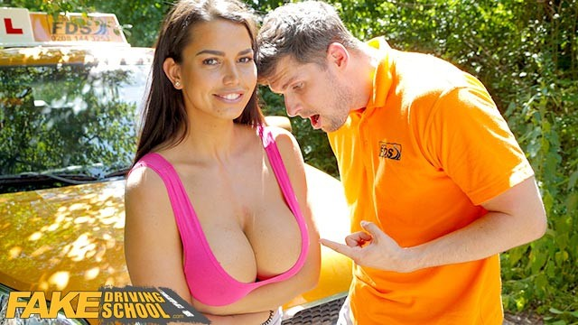 Adult violin lesson Fake driving school chloe lamour gets her big tits out