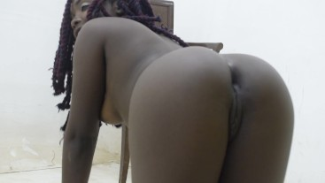 Young Horny African Teen Finger Fucking Herself
