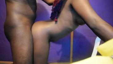 Fucking My Young African Teen Girlfriend DoggyStyle
