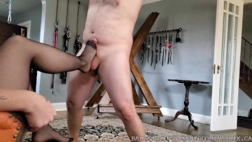Bastienne Cross Hung From The Ceiling And Kicked In The Balls