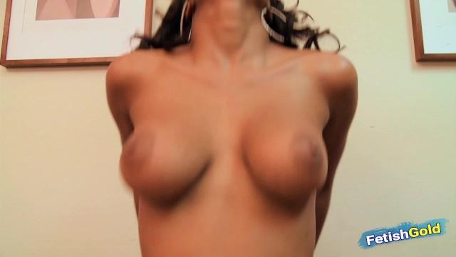 Sexy ebony babe with big boobs rides hard a big black cock 5