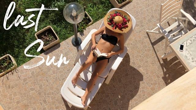 Nude sunbathing backyard Last sun - spying my wife masturbating sunbathing in the garden