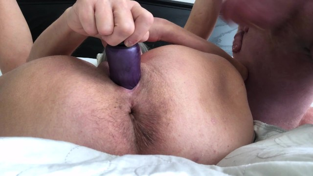Hot Milf Squirts And Dildos Hubby Jacks Off Drops Big Load 5