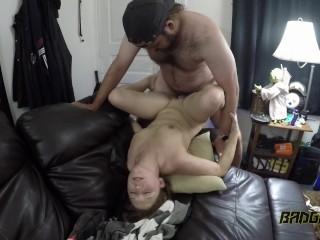 Daddy fucks his slut prositute Ex Gf. Hot sexy body. Redhead whore. 4K