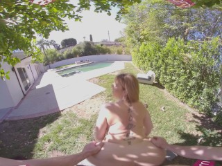 VR BANGERS Sexy MILF Fucks Her Young Gardener VR Porn