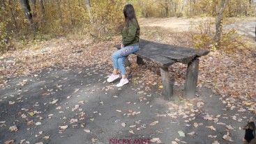 I met my step sister in the park - naughty girl?