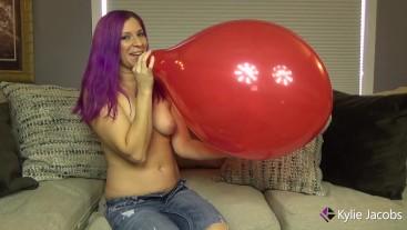 Red Balloon B2P Cum When It Pops