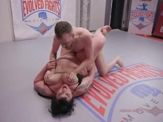 Buxom julie rocket nude wrestles chad diamond getting...