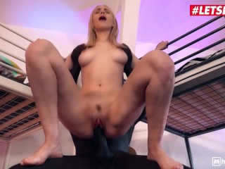 LETSDOEIT – Smoking Hot Blonde Teen Can't Help But Jump on That BBC