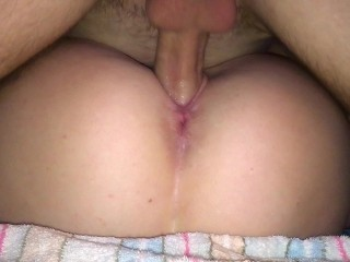 4K Сumming on both her holes after PUSSY FUCK & CLOSE UP