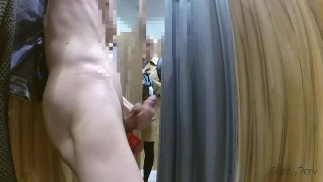 Vintage dresses models - Dick flash dressing room. ragazza flashata e sborrata nel camerino
