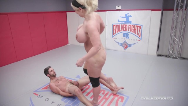 Huge pierced boobs - Huge boobs alura jenson kicks balls and dominates in nude wrestling match