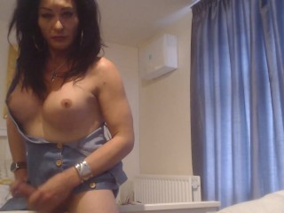 His tits out cock big hard and on...
