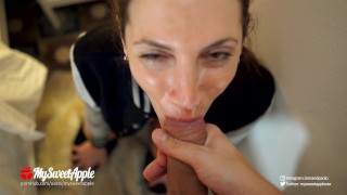 Facial and Swallow Cumshot Compilation - Amateur MySweetApple