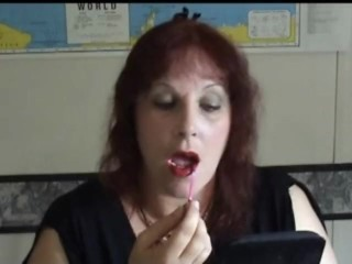 Bbw roleplay no nudity putting on makeup in...