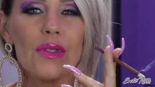 Smoking A More As the Smoke Billows From My Wet Pink Lips – Nikki Ashton –