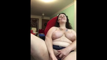 Bbw Milf Fucks Herself with Spoon While Cookies Bake