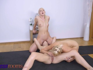 Fitness Rooms Hayli Sanders nubile 3way with Lovita Fate and Marilyn Sugar