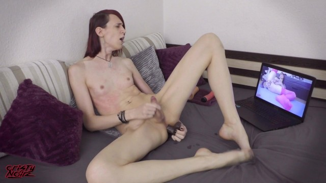 Cristy Noir Emo tgirl All Natural Naked Fapping to My Own Porn 15