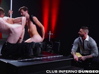 Clubinferno boss daddy made us fist ourselves...